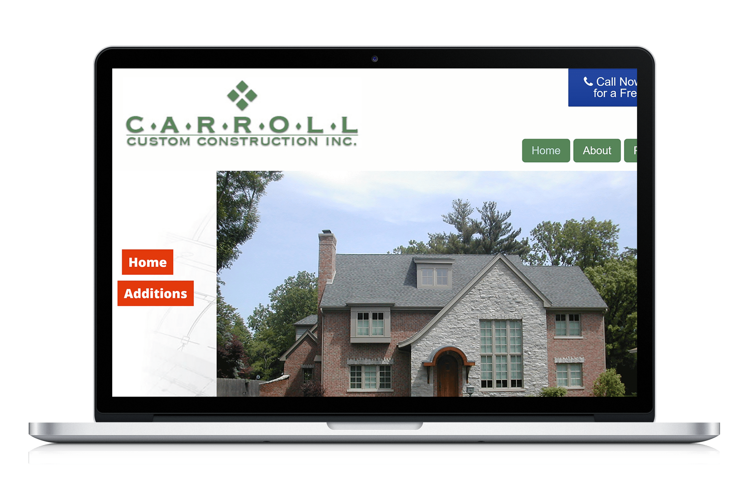 Website for remodeling contractor along with managed for Home construction websites