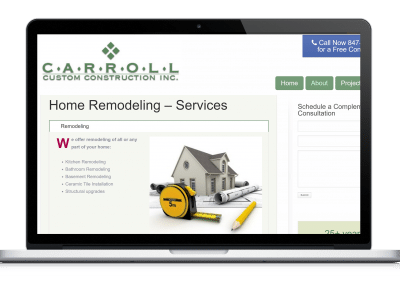 Website For Remodeling Contractor projects page
