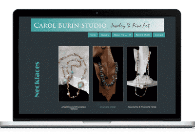 Website For Artist Studio gallery page