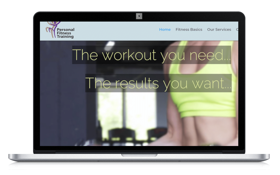 Website For Fitness Studio